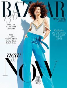 COVER  Alana Zimmer for Harpers Bazaar Singapore January 2015