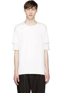 Attachment - White Double Layer T-Shirt