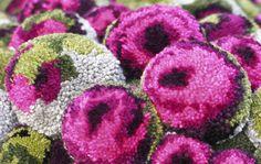 Bommelpouf Roses detail