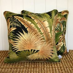 Black Forest Outdoor Fabric Cushion or Pillow by SquareFoxDesigns
