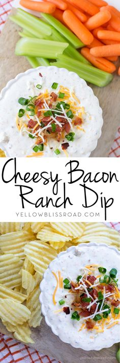 Cheesy Bacon Ranch Dip - great for game day or holiday entertaining!