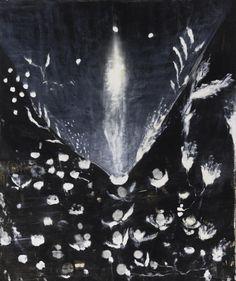 Ross Bleckner (American, b. 1949), Fairytale Love, 1992. Huile sur toile, 48 x 40 po.