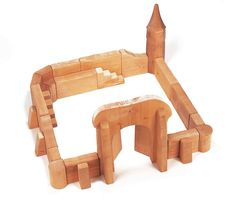 This superb Wooden Castle Toy Assortment is handcrafted by Ostheimer from solid Alder. This 24 piece Castle set has a sturdy, block-like quality and...
