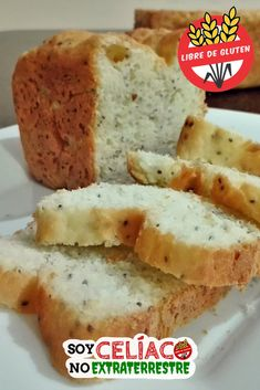 Chia bread without gluten or without TACC, suitable for celia - Gluten Free Celiacos Gluten And Diary Free Recipes, Gluten Free Vegetarian Recipes, Vegan Gluten Free, No Gluten Diet, Pan Bread, Gluten Free Cakes, Breakfast Dessert, Healthy Sweets, Baking Recipes