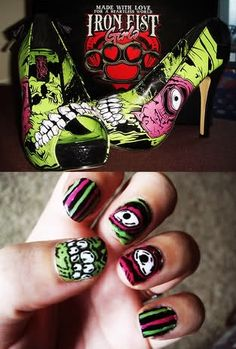 Fun iron fist nails