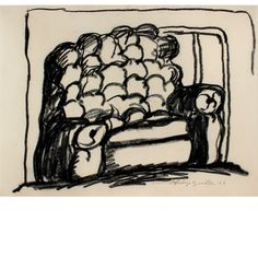 """""""Untitled (Chair)"""" Philip Guston 1968"""