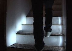 Automatic LED Stair Lighting - Stairs can be pesky sometimes, tripping you up when you're not looking and hiding in the dark; but with the Automatic LED Stair Lighting, that coul. Led Stair Lights, Stairway Lighting, Led Lighting Home, Lighting Ideas, Lighting Design, Deco Led, Take The Stairs, Led Diy, House Stairs