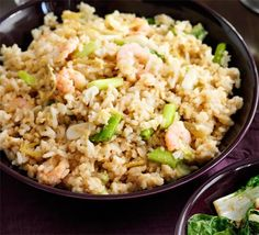 John Torode's delicious egg fried rice is dotted with juicy prawns and makes a great addition to a Chinese feast