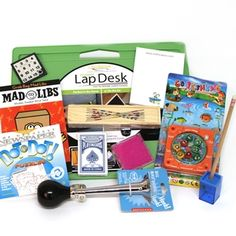 $42.95Get Well Gift Basket on Lap Desk for Kids  MirthinaBox.com  Gifts to keep a kid quiet served up on a lap desk
