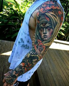 The best Neo traditional tattoo Tattoo Sleeve Filler, Full Sleeve Tattoos, Monster Tattoo, Neo Tattoo, Tiger Tattoo, Tattoo Designs, Design Tattoo, Body Art Tattoos, Cool Tattoos