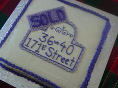 Housewarming Gift Idea - design a cake to look like their address plate