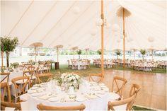 Tent at Sandy Hook Chapel wedding