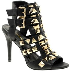River Island Gladiator Studded Sandals ($106) ❤ liked on Polyvore