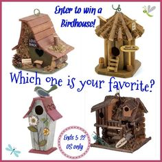 Spring is here- time for Birdhouses! I don't know about you, but I LOVE birdhouses!  I have a collection and I was hoping you did too! It's Free at Last and I are sharing this fun giveaway with you, just to say thanks for being great readers!...