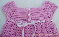 """Edinir-Croche ensina vestido em croche rosa para o bebê - parte 1. NOVOS VIDEO-AULAS TODA SEMANA"""" Clique no link abaixo e clique em """"Inscrever-se"""" http://bit..."""