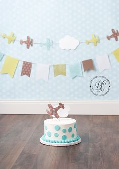 airplane cake smash http://reneecooperphotography.com