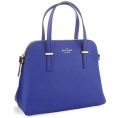 KATE SPADE NEW YORK Cedar Street Maise Handbag (6.455 UYU) ❤ liked on Polyvore featuring bags, handbags, emperor blue, real leather purses, leather bags, kate spade bags, leather handbags and genuine leather purse