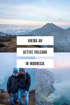 The ultimate travel guide to hiking Volcano Kawah Ijen in Indonesia.