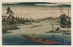Utagawa Hiroshige Title:Late Spring at Massaki (Massaki boshun no kei), from the series Famous Places in the Eastern Capital (Tôto meisho) Date:1831-32