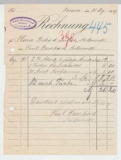 (D119+) Rechnung Fa. Paul Bernhard, Seilerei, Nossen (Sa.) 1907 in Sammeln & Seltenes, Büro, Papier & Schreiben, Papier & Dokumente | eBay