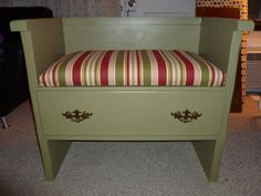 Bench made from old dresser....love it.