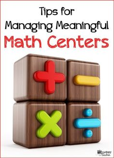 Easy tips for managing math centers! Lots of ideas for keeping students engaged and working independently! Second Grade Math, 4th Grade Math, Sixth Grade, Grade 2, Math Rotations, Math Centers, Numeracy, Math Resources, Math Activities