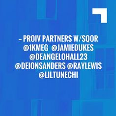Take a look at my blogpost, folks👇 ProIV partners w/Sqor @1KMEG @jamiedukes @DeAngeloHall23 @DeionSanders @RayLewis @LilTunechi #dripfusion https://youtu.be/kQ49J4zLmzo @YouTube Pro IV Network on Sqor https://1kmeg.wordpress.com/2017/04/23/proiv-partners-wsqor-1kmeg-%e2%80%8fjamiedukes-deangelohall23-deionsanders-raylewis-liltunechi-dripfusion-httpsyoutu-bekq49j4zlmzo-youtube-pro-iv-network-on-sqor/?utm_campaign=crowdfire&utm_content=crowdfire&utm_medium=social&utm_source=pinterest