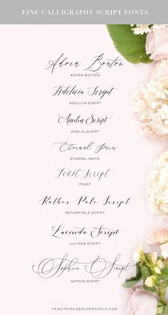 Fine Calligraphic Fonts Fine Calligraphic Fonts Typefaces and Typography Fine Calligraphic Fonts Tattoo Fonts Cursive, Hand Lettering Fonts, Handwriting Fonts, Calligraphy Fonts, Script Fonts Free, Phrase Tattoos, Key Tattoos, Calligraphy Alphabet, Lettering Tutorial