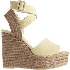 CASTANER Zinc Linen Wedge Sandal (675 BRL) ❤ liked on Polyvore featuring shoes, sandals, wedges, shoes wedges, castaner espadrilles, espadrille sandals, peep toe wedge sandals, summer sandals and espadrille wedge sandals
