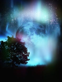 Conceptual Illustration of the Moon in the Night Sky Photographic Print by Victor Habbick at Art.com