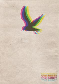 Alfred Hitchcock's The Birds Movie Poster by Ink Spills Inc. Minimal Movie Posters, Cool Posters, Custom Posters, Minimalist Poster Design, Graphic Design Posters, Poster Designs, The Birds Movie, Alfred Hitchcock The Birds, Bird Poster