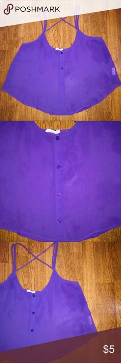 M Women's/Juniors Lush Sheer Cross-back Tank Top Items are at their rock bottom prices, FIRM! To receive a discount you must bundle!   CONDITION: Good Used   BRAND: Lush   SIZE: Medium   DETAILS: purple shed like design. Button front with unique spaghetti strap cross back design. Runs small in Women's sizing so would assume it's Juniors sizing !   FLAWS:  pulling of fabric on back side. As seen in photos   #lush #Sheer #tank #AthensOH #forsale  #Fashion #Style #TopShopStyles #Posh #CCS…