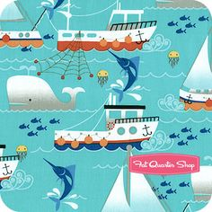 Michael Miller Aqua Swim Free Yardage SKU# CX5868-AQUA-D - Fat Quarter Shop