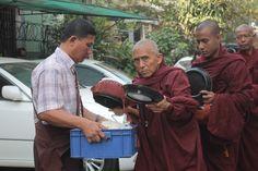 Alms Round, Yangon