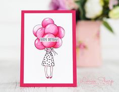 Louise Sharp: Be Inspired Design Team Hop Birthday Card Pictures, Simple Birthday Cards, Hand Stamped Cards, Stampin Up Catalog, Pictures To Draw, Stamping Up, Stampin Up Cards, Balloons, Card Making