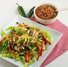 Chicken Fajita Salad-minus beans