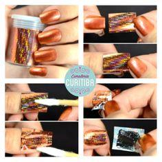 Sem segredos: espelhar as unhas com Foil é simples, pratico e seguro! (Imagem: Unha de Ouro)