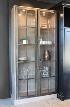 Home - Stoll Industries - custom metal cabinet doors Kitchen Vastu, Home Decor Kitchen, Kitchen Interior, Home Decor Furniture, Dining Furniture, Furniture Makeover, Armoire Entree, Crockery Cabinet, Custom Cabinet Doors