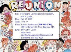funny class reunion invitations | Steven M. L'Heureux, Stephen Nelson. Michael Daniel, Scott
