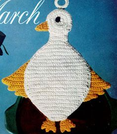 duck potholder free crochet pattern