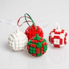 Bauble Made From LEGO® this would be so fun for boys :-)
