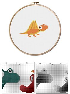 baby dinosaur baby dino сross stitch pattern dragon baby