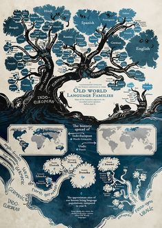 Old World Language Families Map - Maps on the Web | Southmoore AP Human Geography | Scoop.it