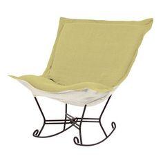 Howard Elliott Puff Scroll Rocking Chair