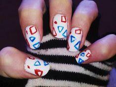 real basic cute nails,^_^