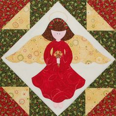 Christmas quilt blocks | Quilt-Along Block 12: Christmas Angel / Quilting Gallery