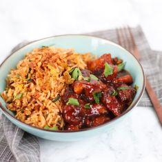 Vermeld of tag Asian Recipes, Healthy Recipes, Ethnic Recipes, Wok, Fried Rice, Slow Cooker Recipes, Food Inspiration, Side Dishes, Curry