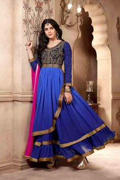 Look elegant with New Blue Faux Georgette Anarkali Suit Shop now http://zohraa.com/salwar-kameez/suits-dresses/designer/blue-faux-georgette-anarkali-suit-17.html sku : 58931 Rs. 3,299 ‪#‎anarkali‬ ‪#‎anarkalisonline‬ ‪#‎anarkalisuits‬ ‪#‎suits‬ ‪#‎suitsonline‬