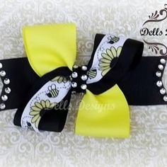 Sweet and Simple Bumble Bee Bow