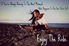 Enjoy Every Moment Yoga Pose Love Quotes